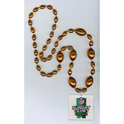 "Combo Football beads (all colors) with attached LED light up disk 2.5"" square"