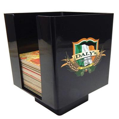 UV Plastic Coaster Holder - Black